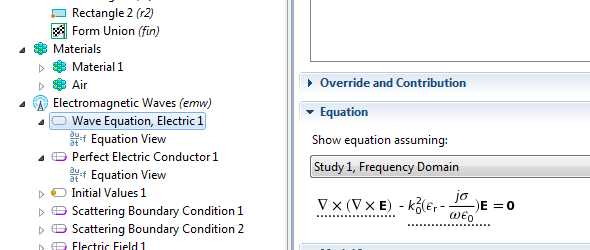 equation editing in structural physics in comsol 4 0